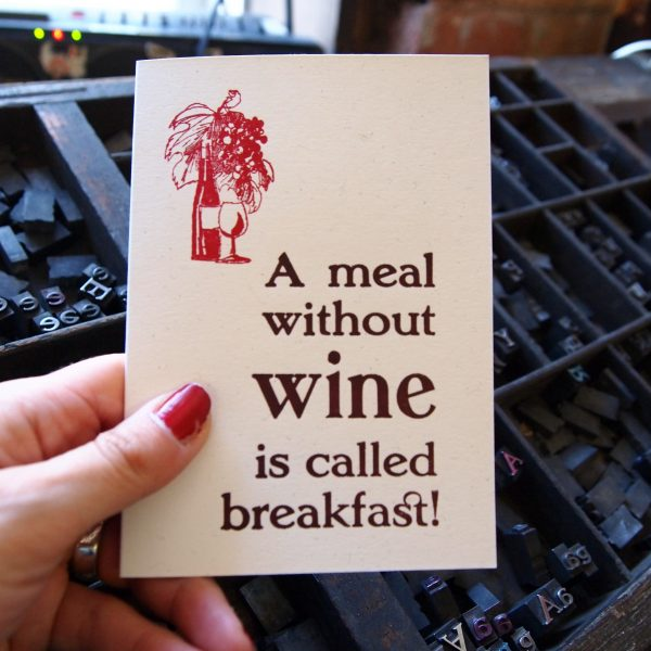 A Meal Without Wine Card