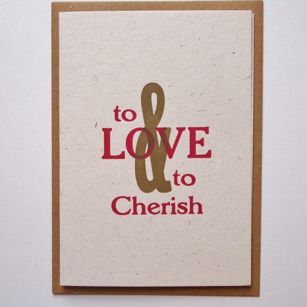 Love & Cherish card