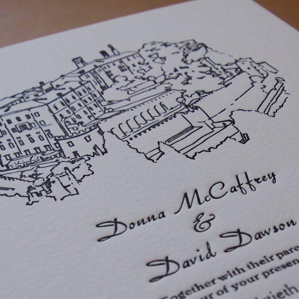 Hand Illustrated Wedding Invitation (A5)