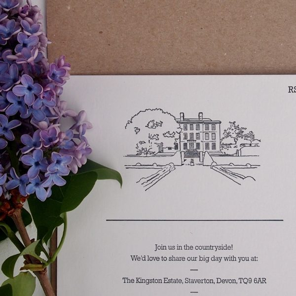 The Kingston Estate, Hand Illustrated Wedding Suite