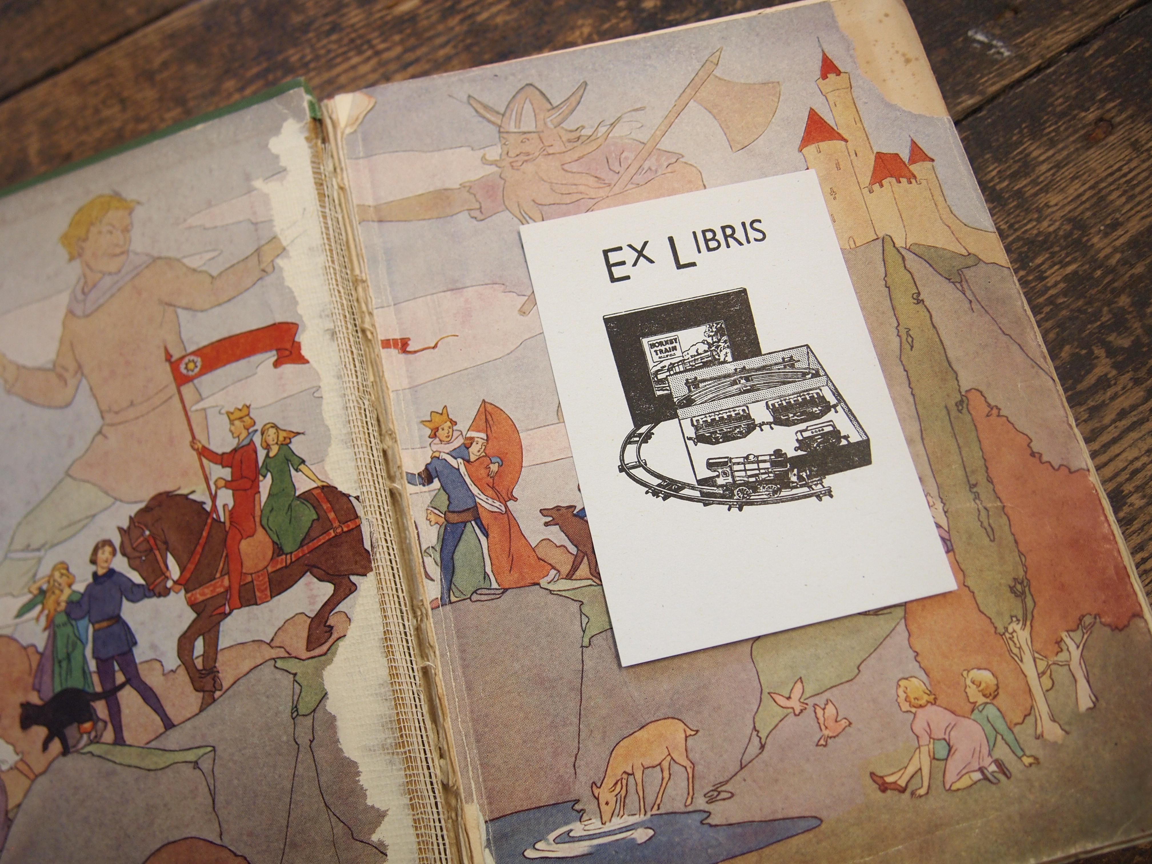 Ex Libris: Letterpress Bookplate - Hornby Railway