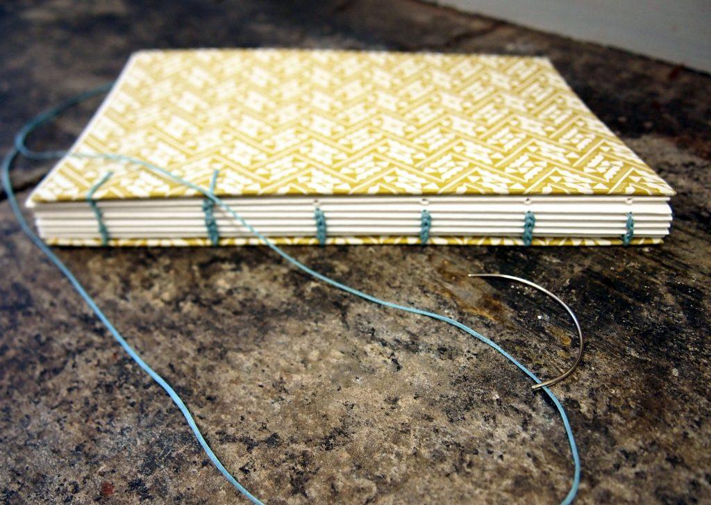 Coptic Binding, decorative stitch