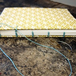 Coptic Binding, decorative stitch