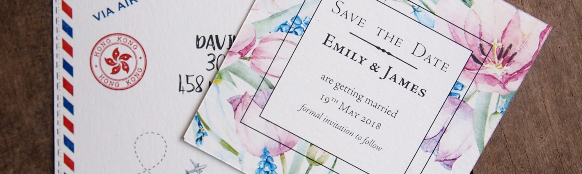 Digitally printed Wedding Stationery. Design by The Smallprint Co.