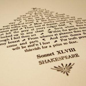 Shakespeare: Sonnet XLVIII