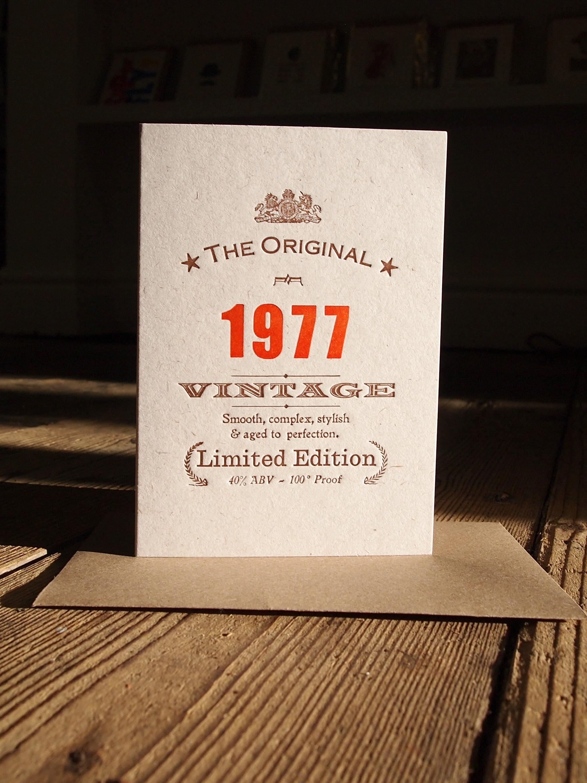 Vintage Celebrations 1977
