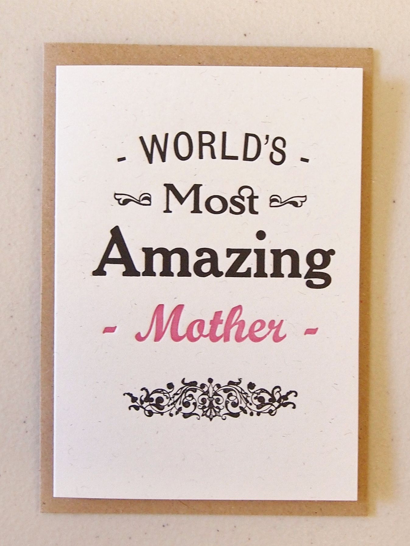 World's Most Amazing Mother card