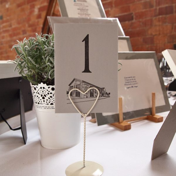 Personalised table numbers