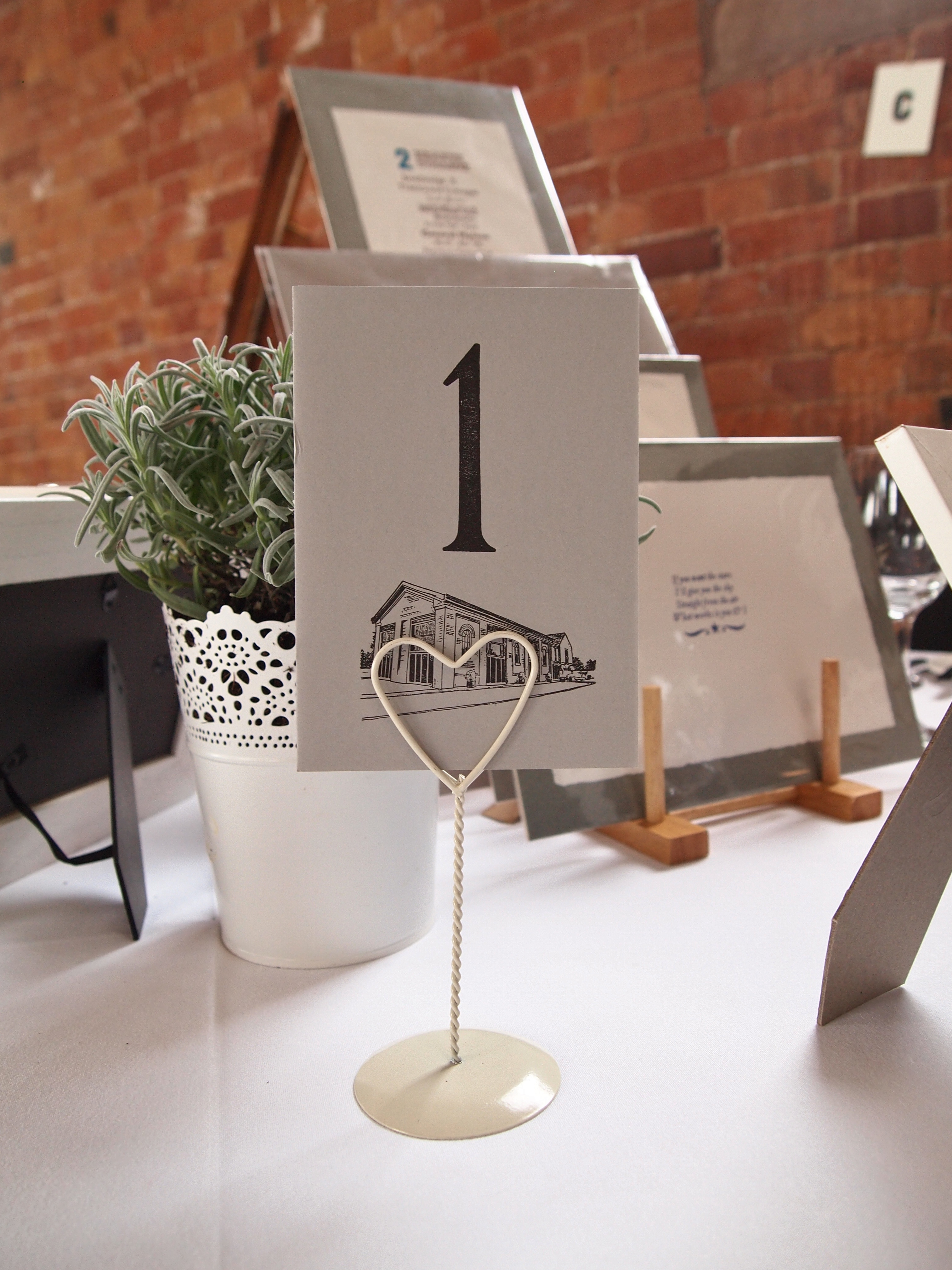 A6 postcard table numbers - Personalised