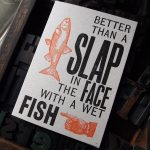 Letterpress Fish Card
