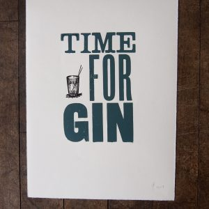 Time For Gin print