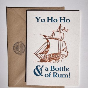 Yo Ho Ho Letterpress Card