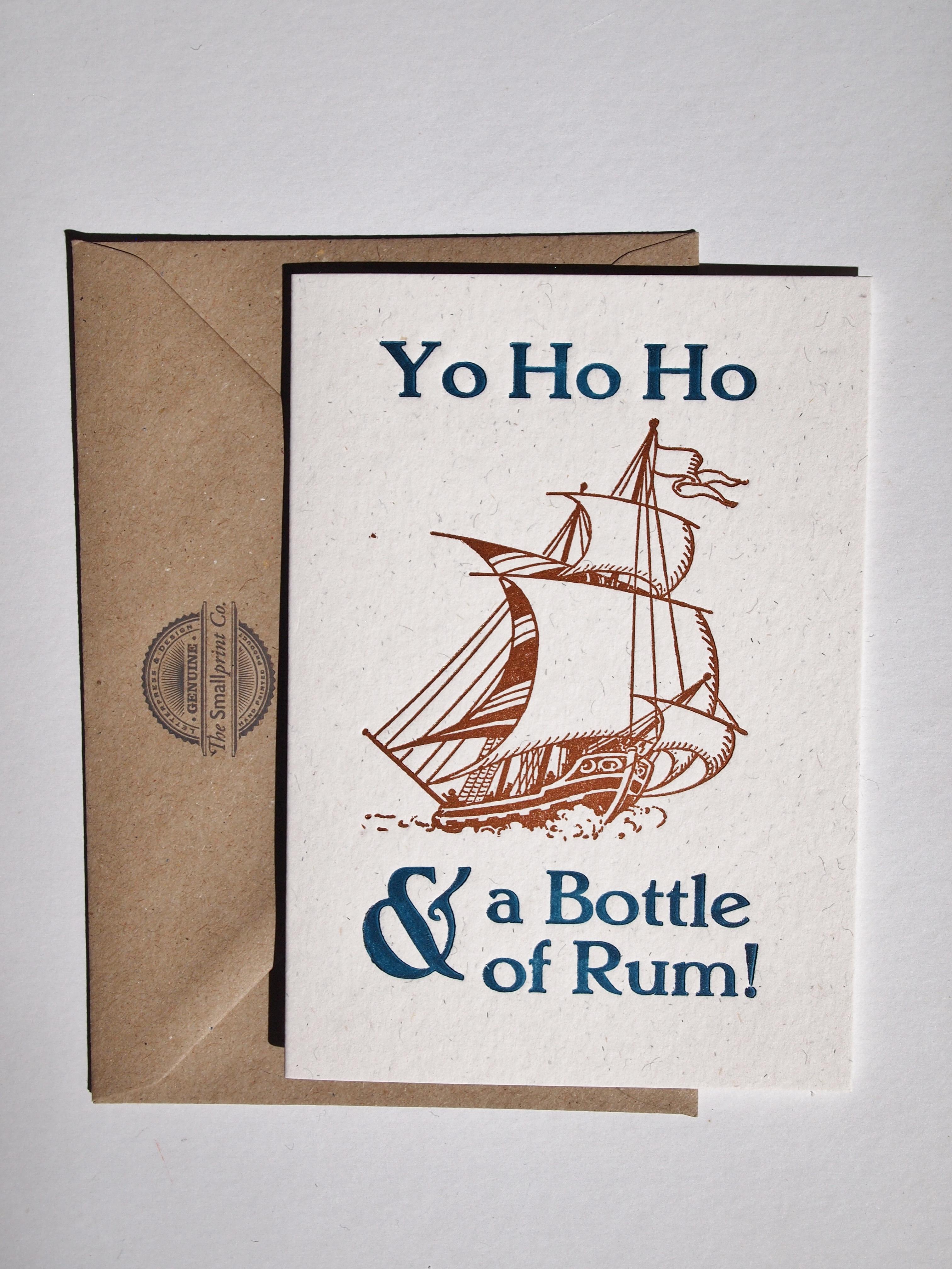 Yo Ho Ho Letterpress Card