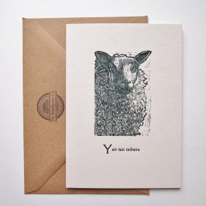 Sheep Wood Engraving