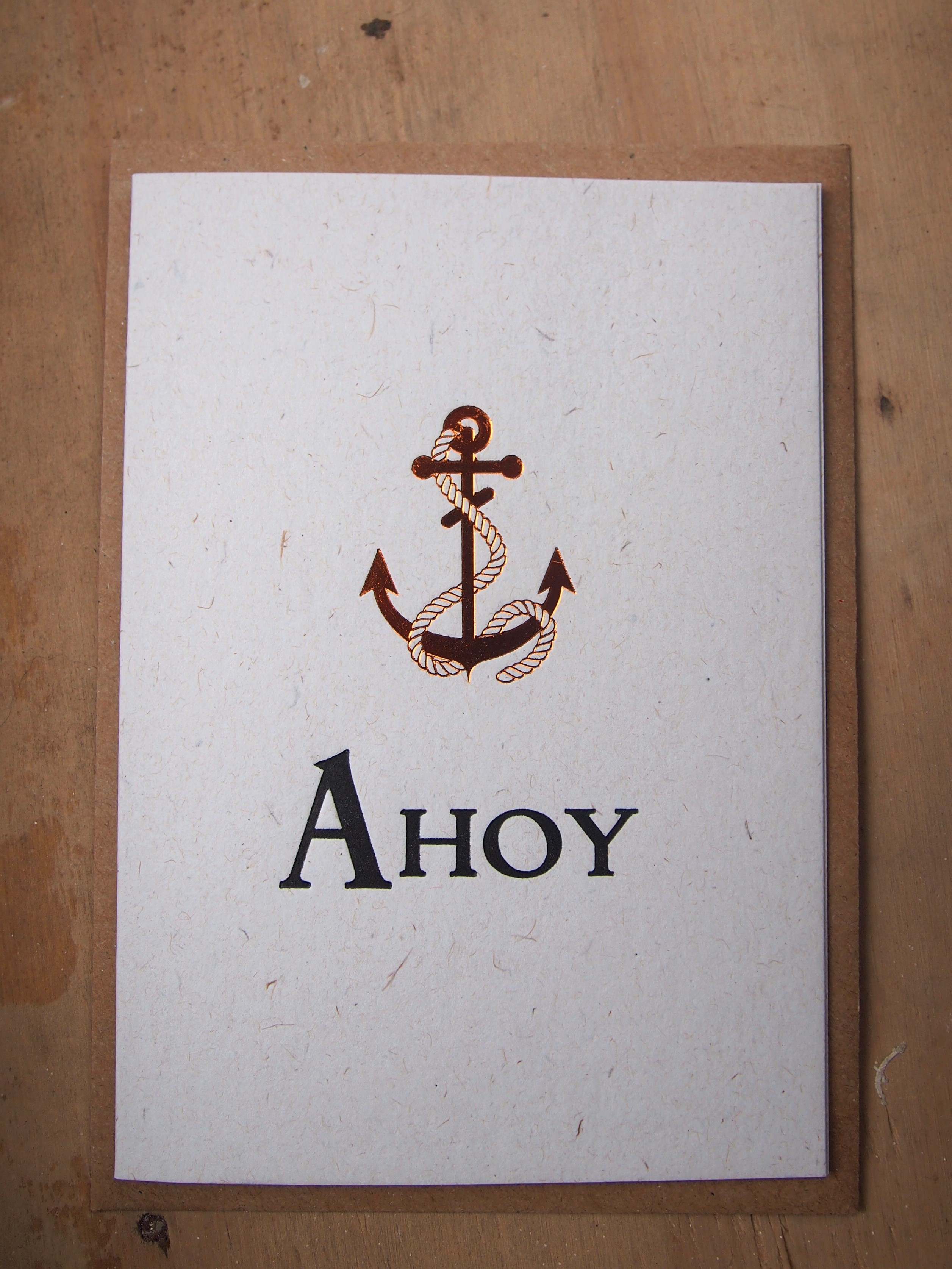 Ahoy Letterpress Card