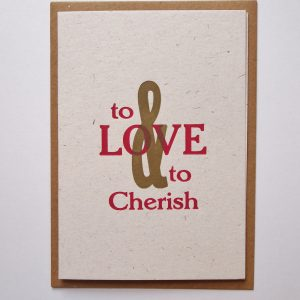 To Love and Cherish card