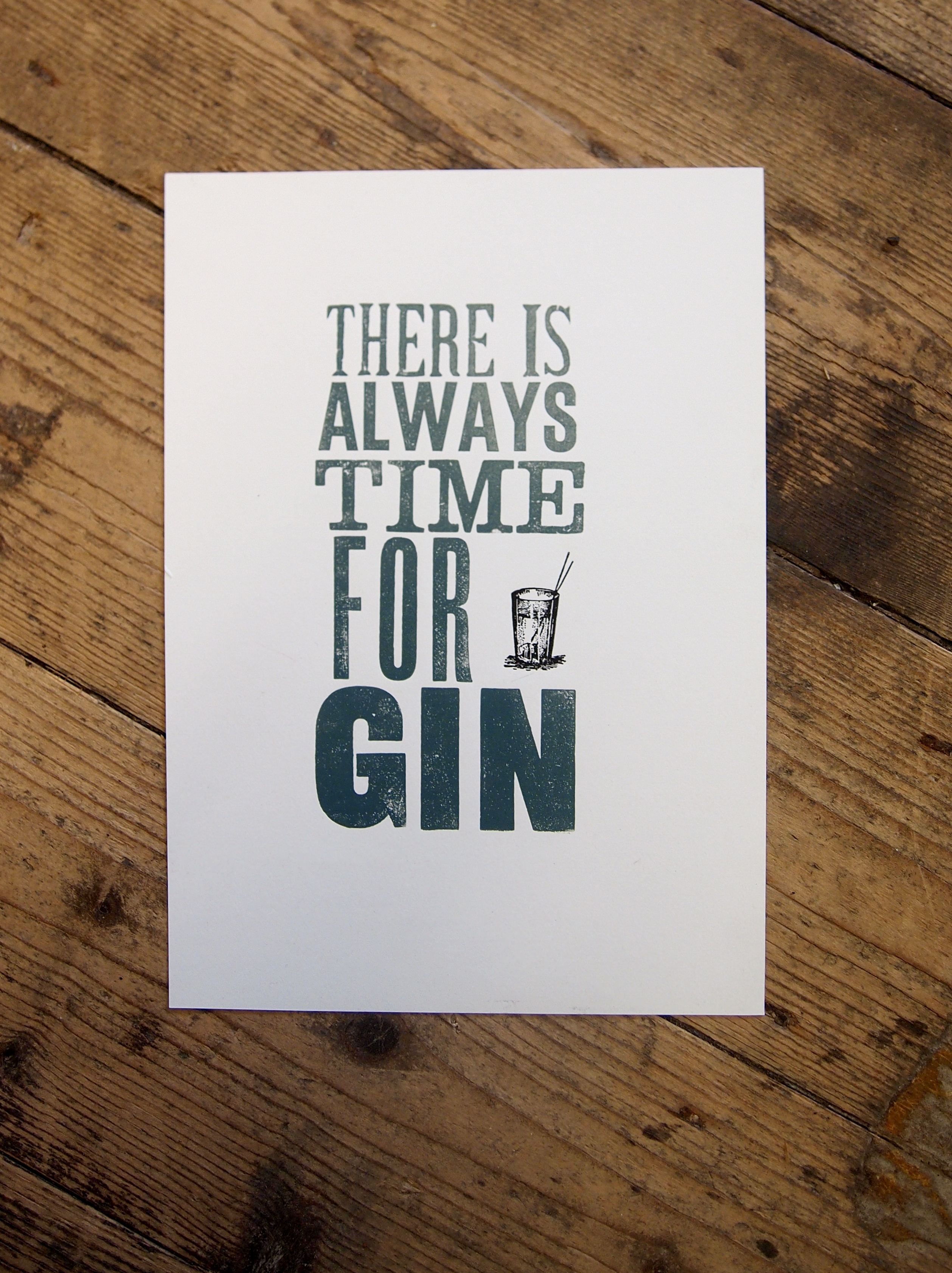 Always Time For Gin Print