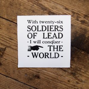 Soldiers of Lead Letterpress Print