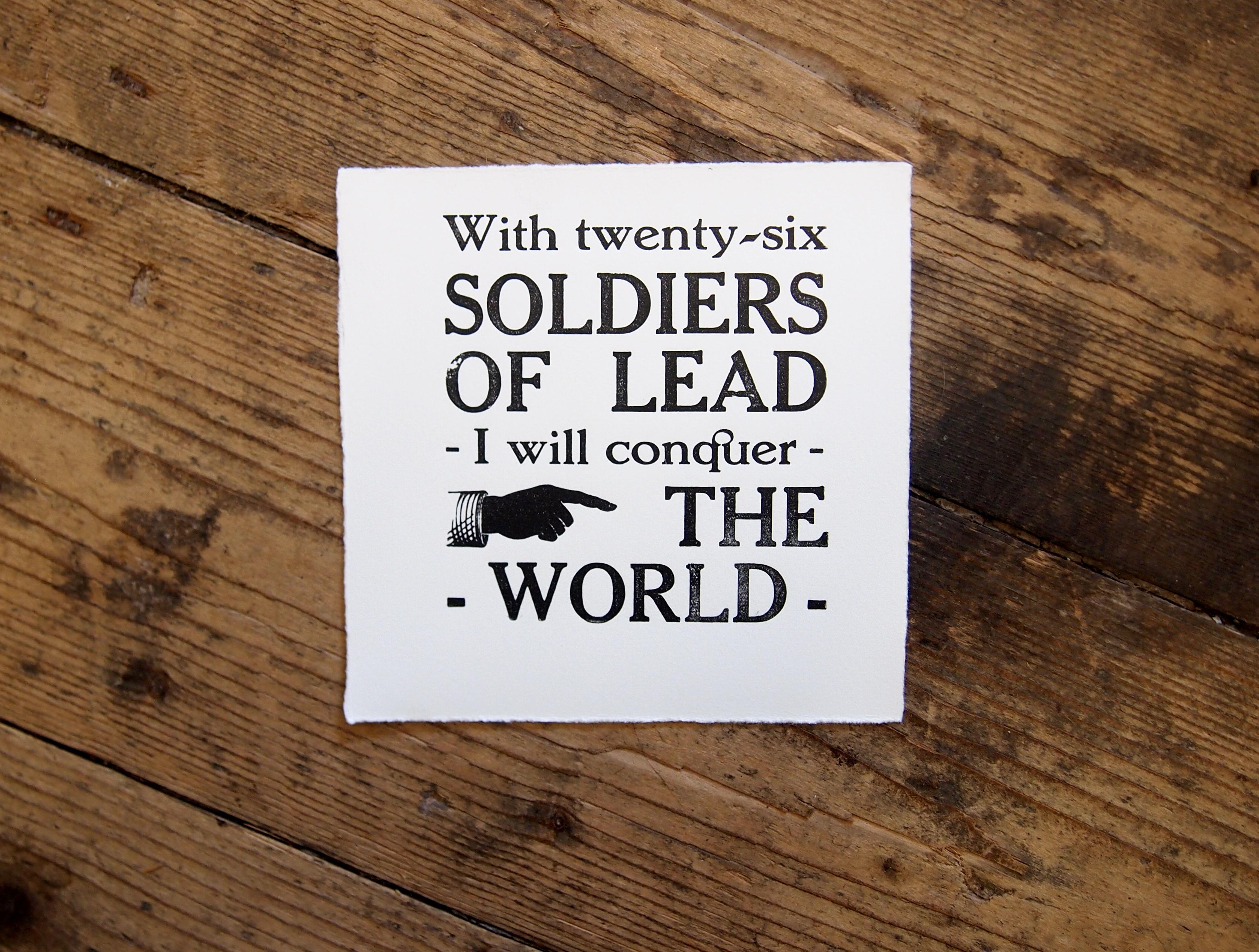 Soldiers of Lead Letterpress Print