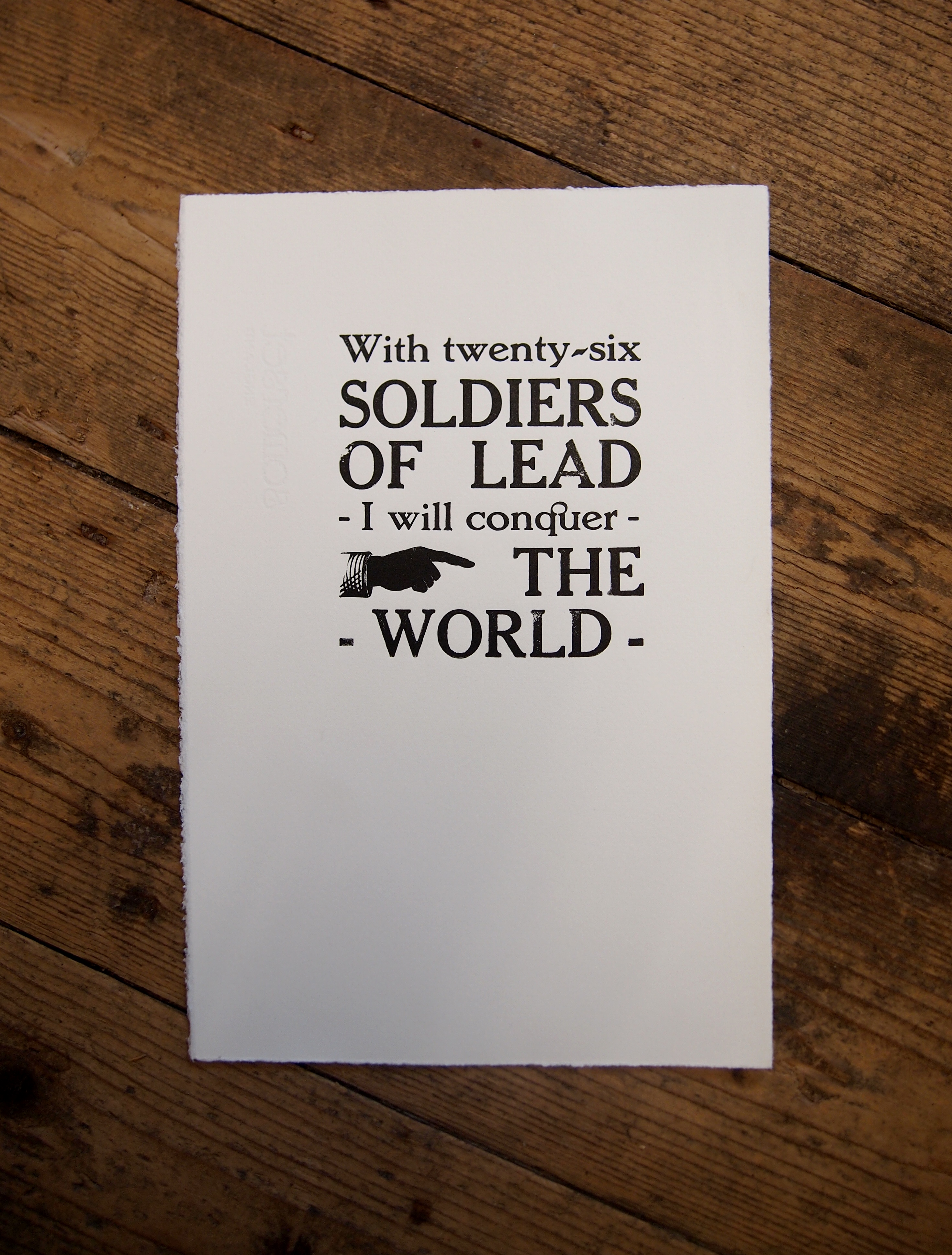 Letterpress Quote Print