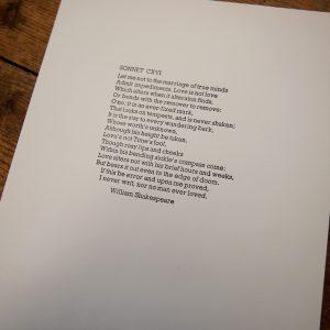 Shakespeare Sonnet LXVI Print