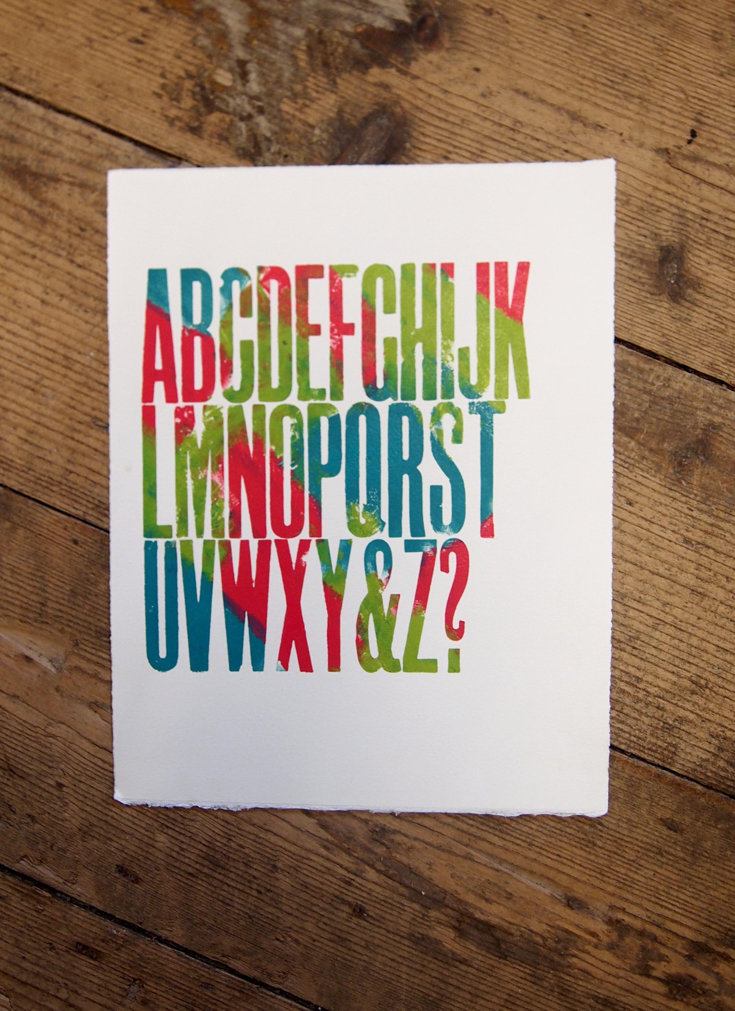 Alphabet Print U/P (3)