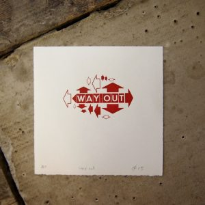 Way Out Print Wall Art