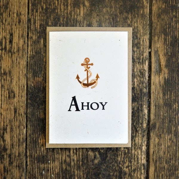 Ahoy greetings card