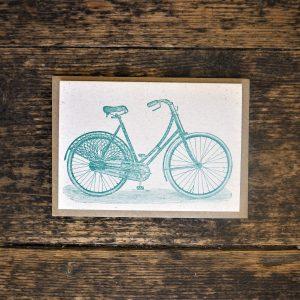Bicycle Letterpress Greetings Card