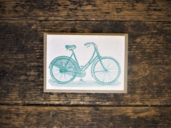 Bicycle Letterpress Greetings Card