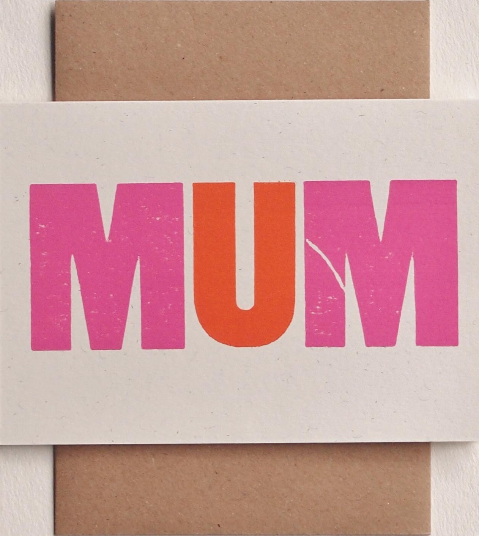 Mum Mom Mam card