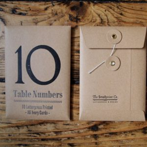 A6 postcard table numbers