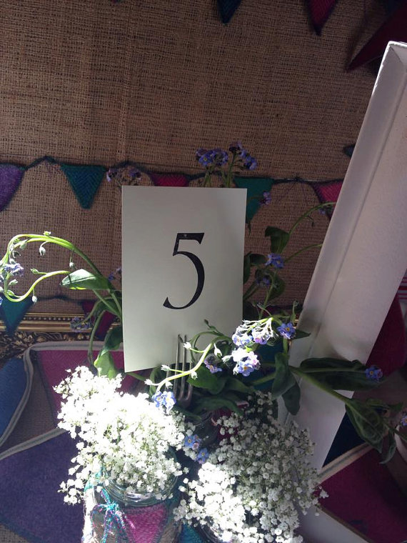 A6 postcard table numbers - display