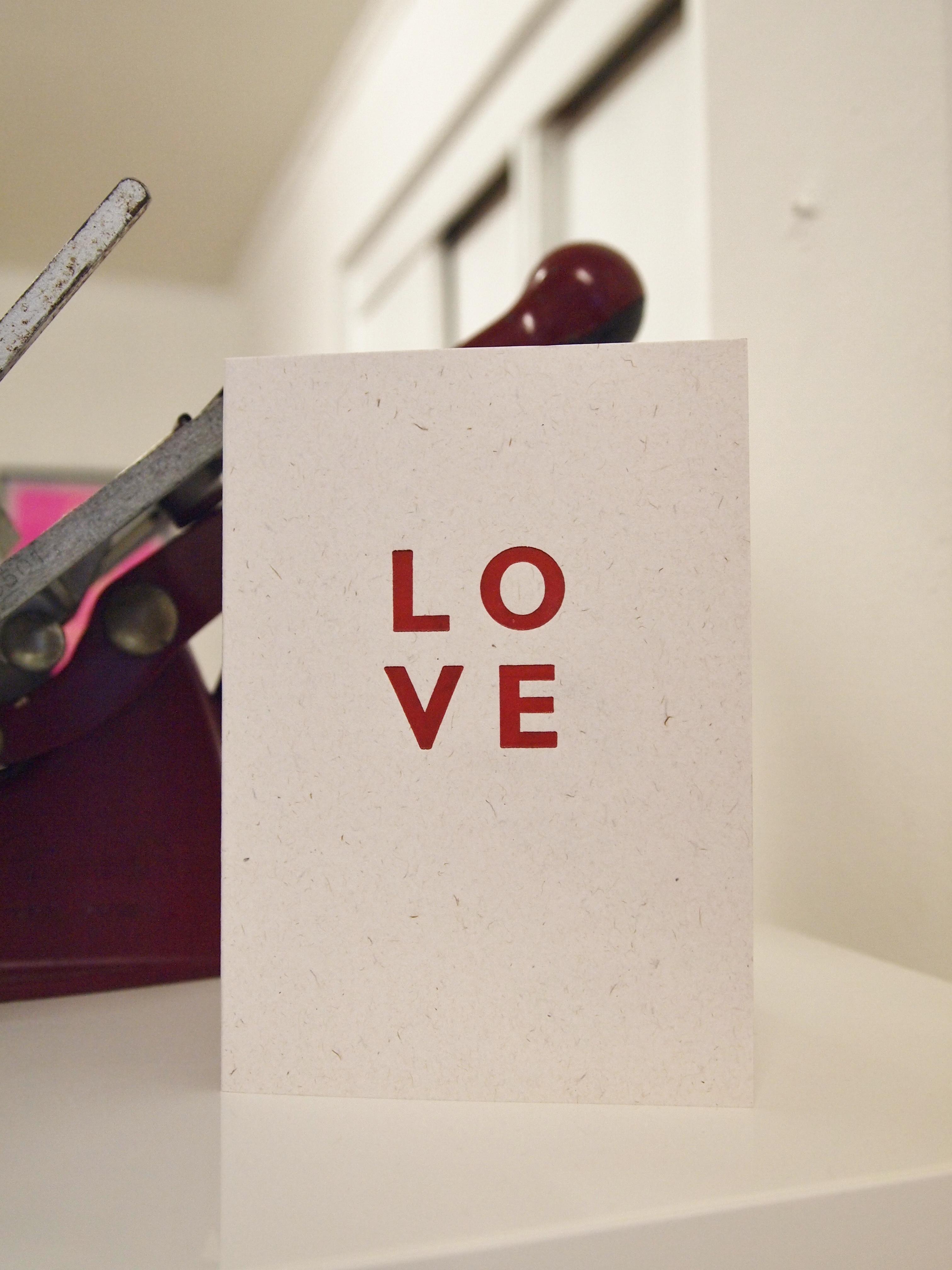 Love Letterpress card