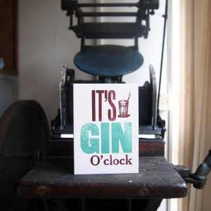 It's Gin O'Clock greetings card