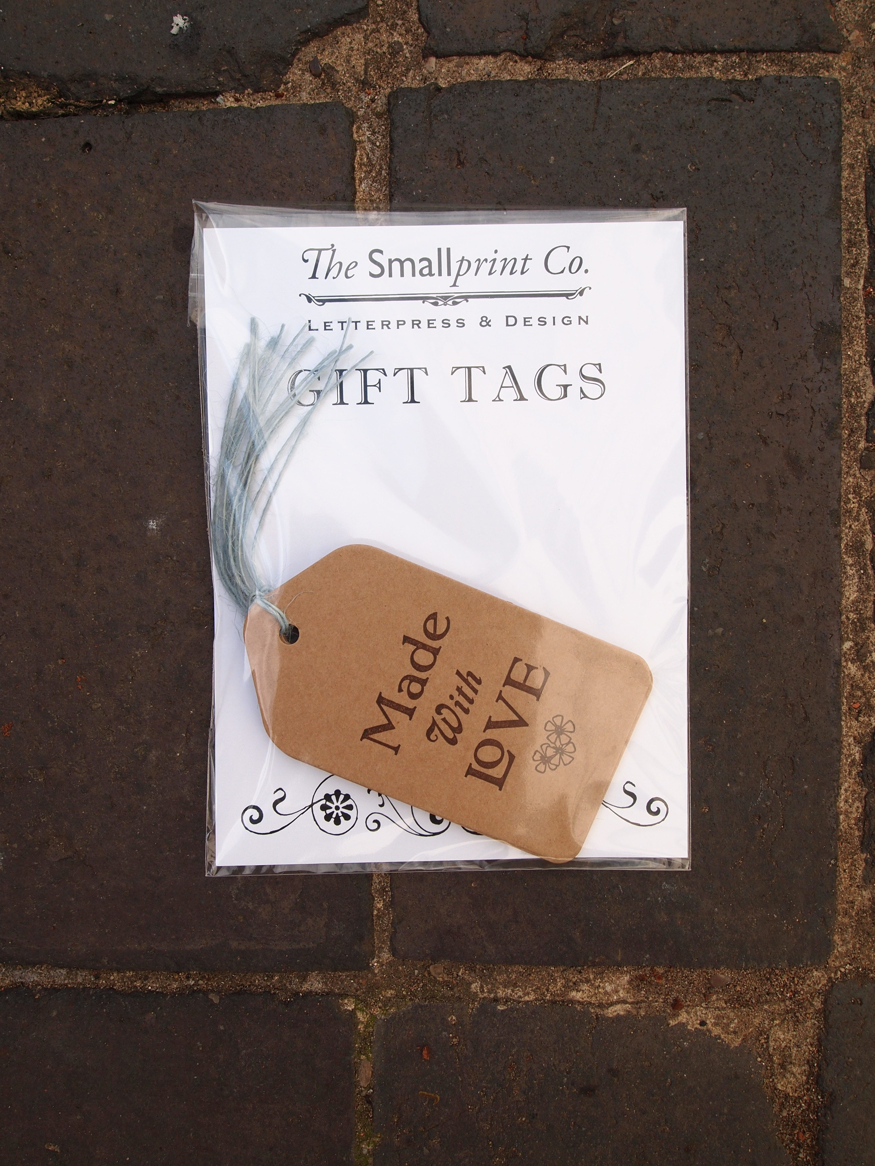 Letterpress Tags Packaged