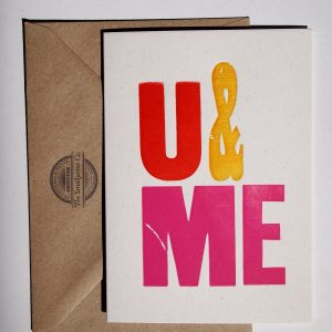U&ME Letterpress Card