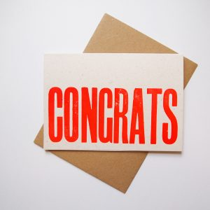 Congrats Letterpress Card