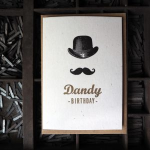 Dandy Birthday Letterpress Card