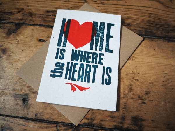 Home Is Where The Heart Is Card angle