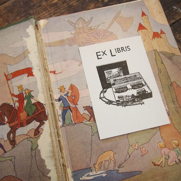 Ex Libris: Letterpress Bookplate - Hornby Railway