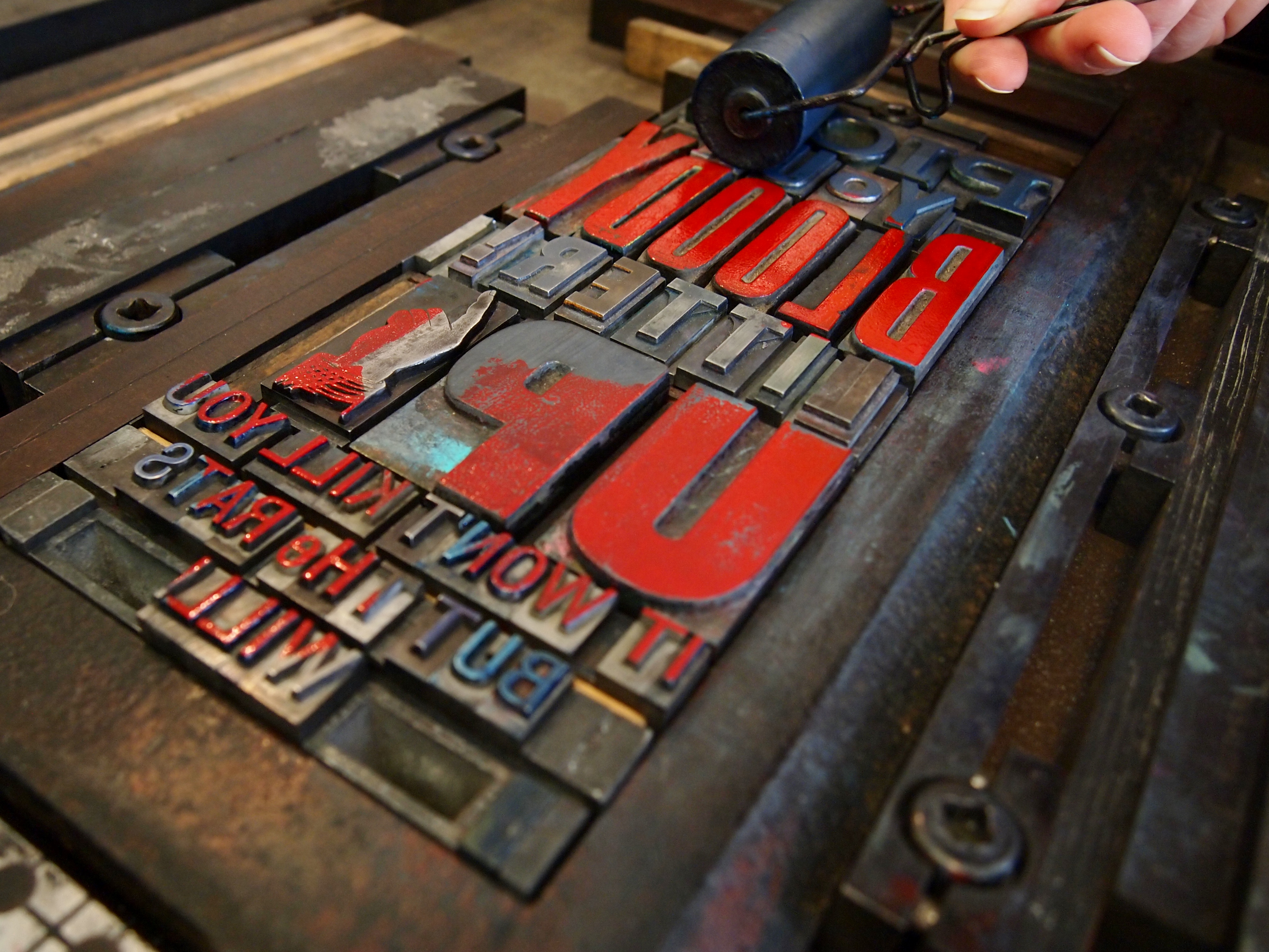 Print a Letterpress Poster: Inking Up