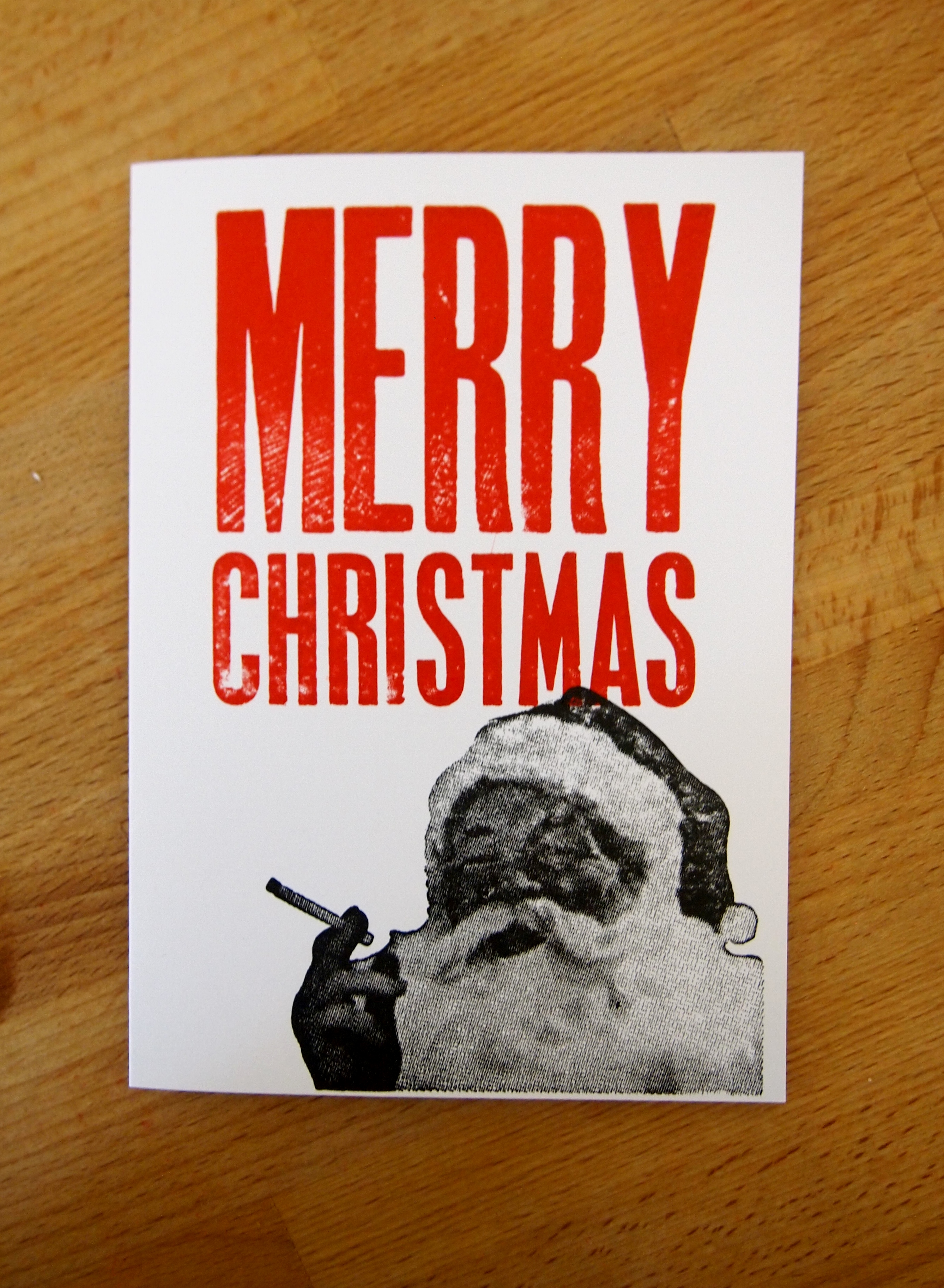 Bad Santa Christmas Card