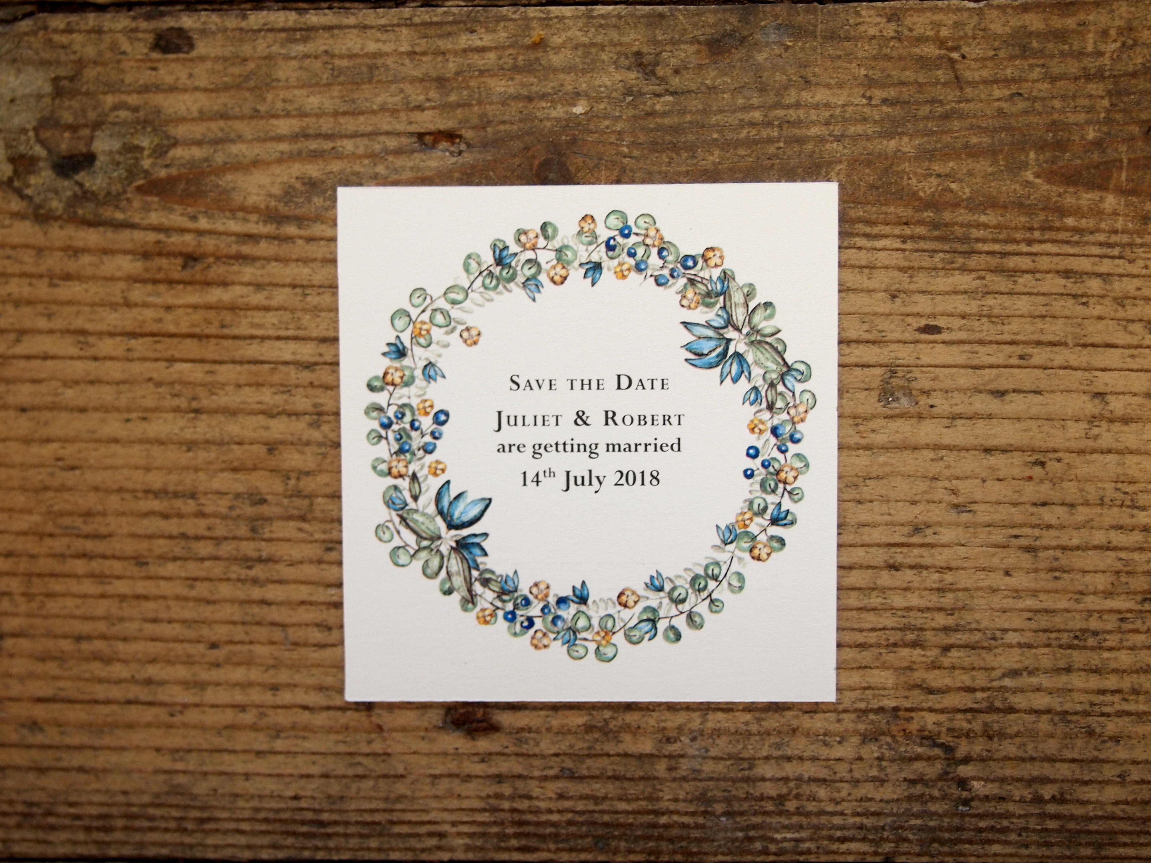 Perpetual Save the Date - White