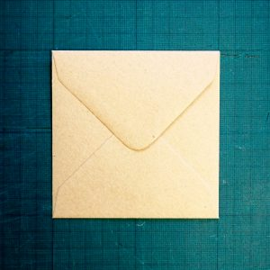 100mm square kraft envelope