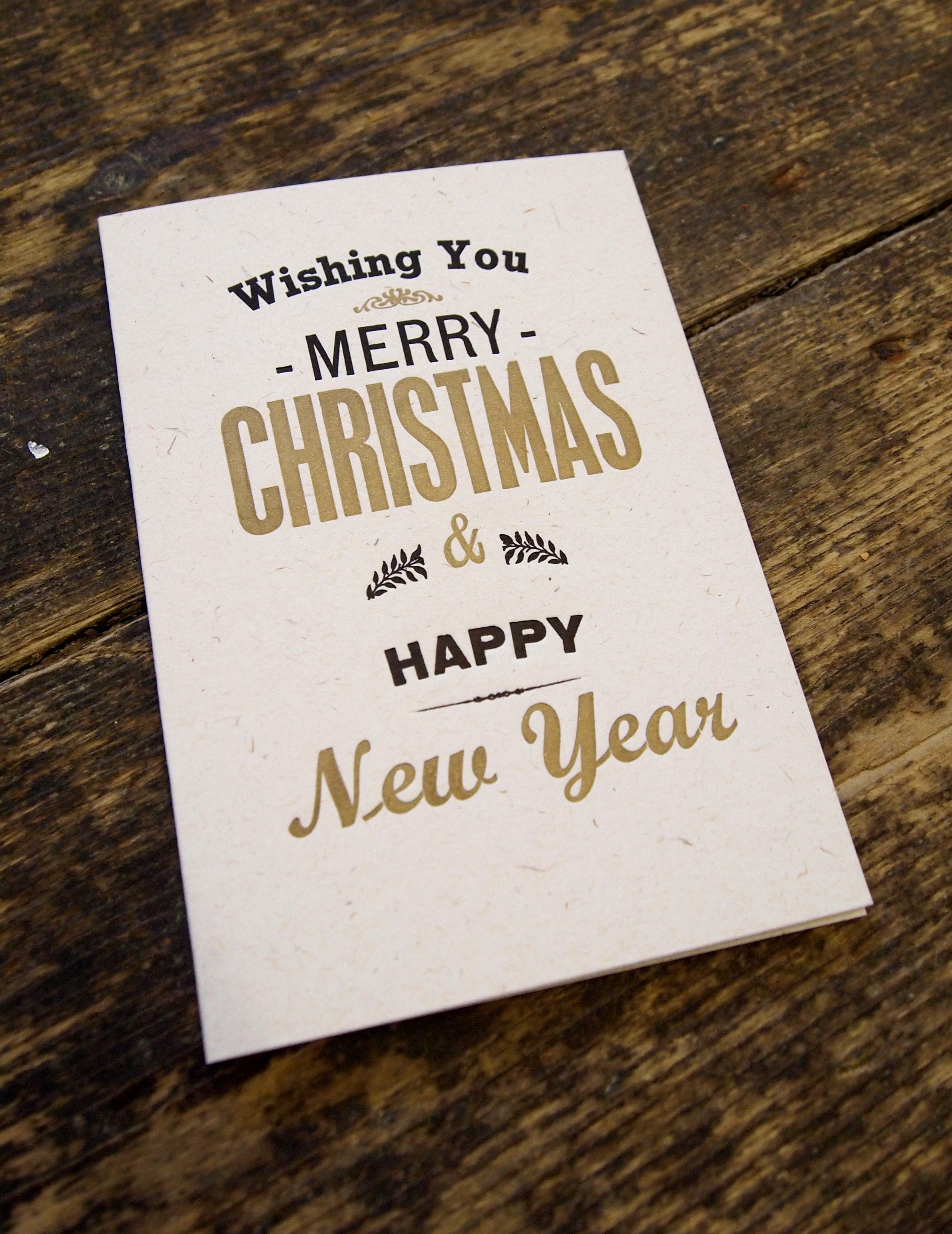 Merry Christmas box card