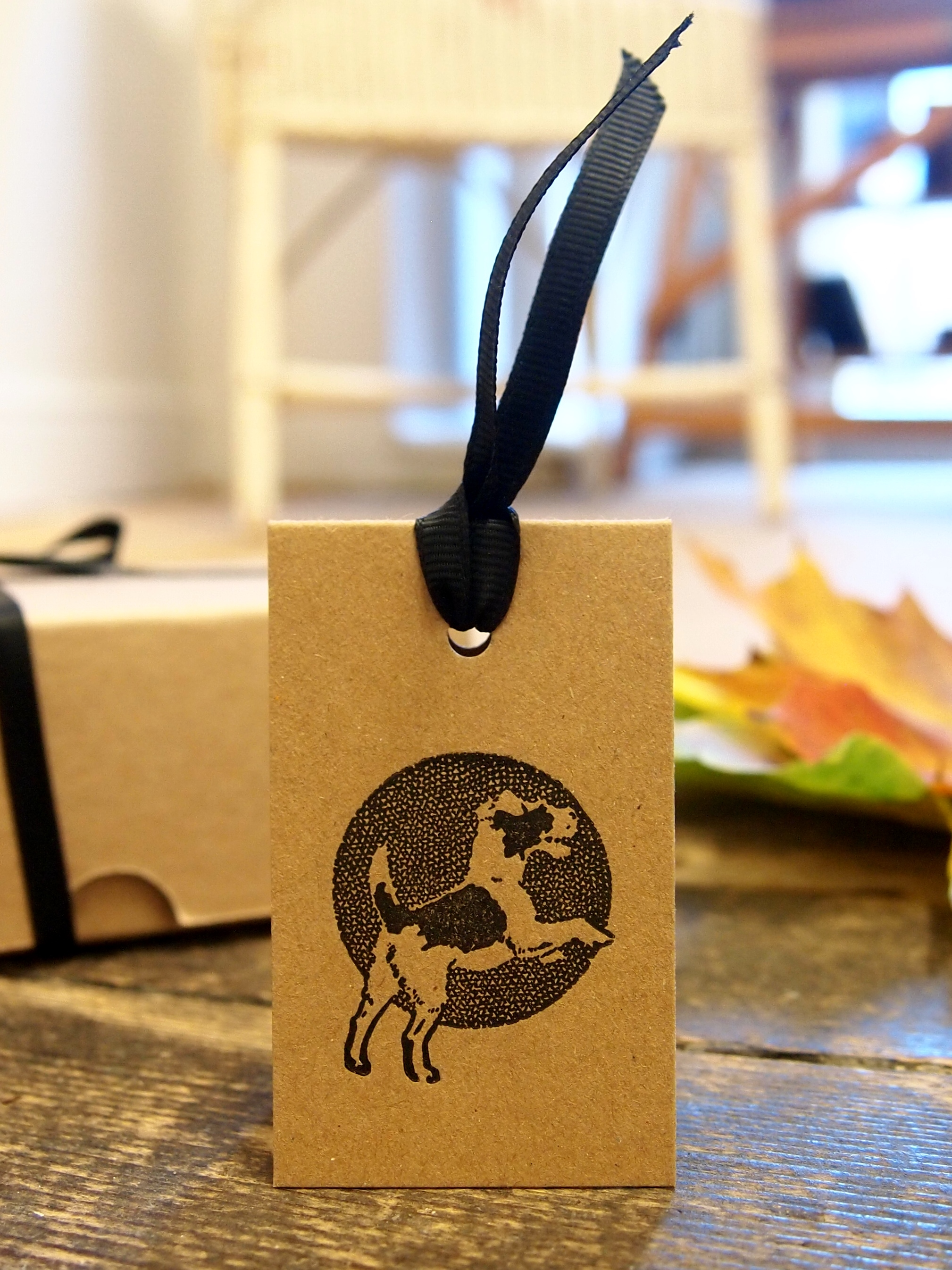 Cheeky Chappy Dog Letterpress Gift Tag