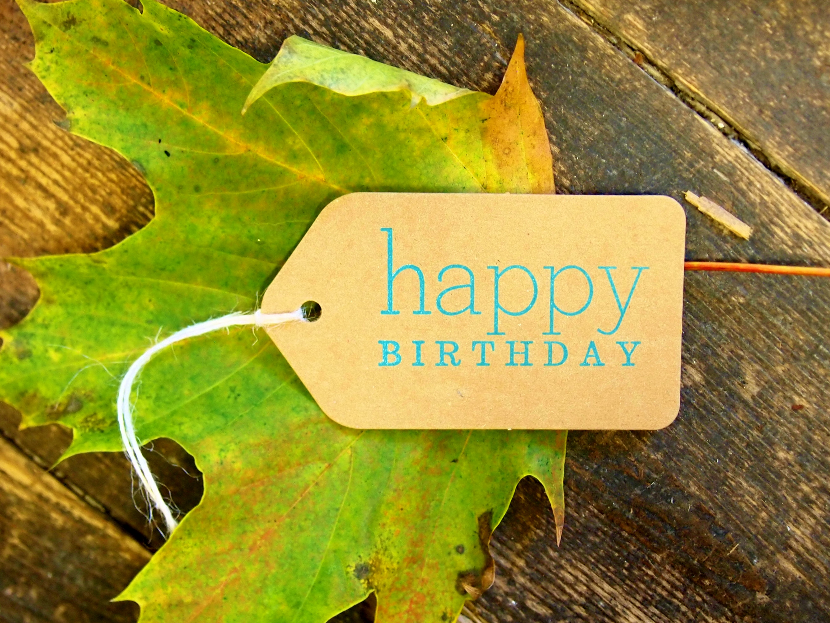 Birthday gift tag