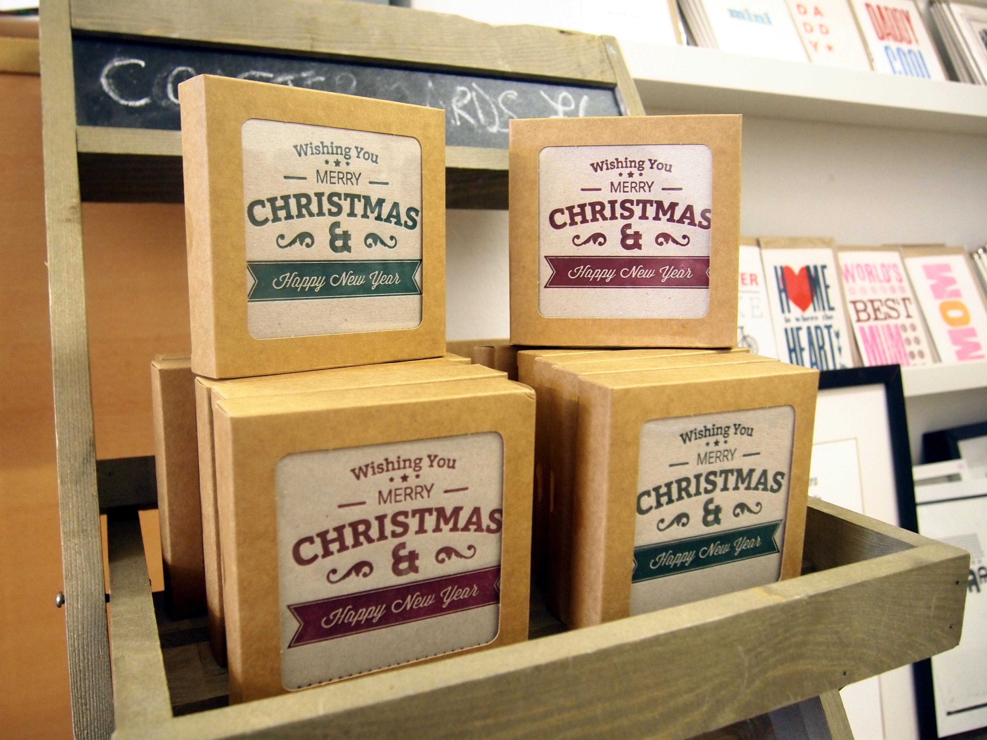 Christmas Card Coasters