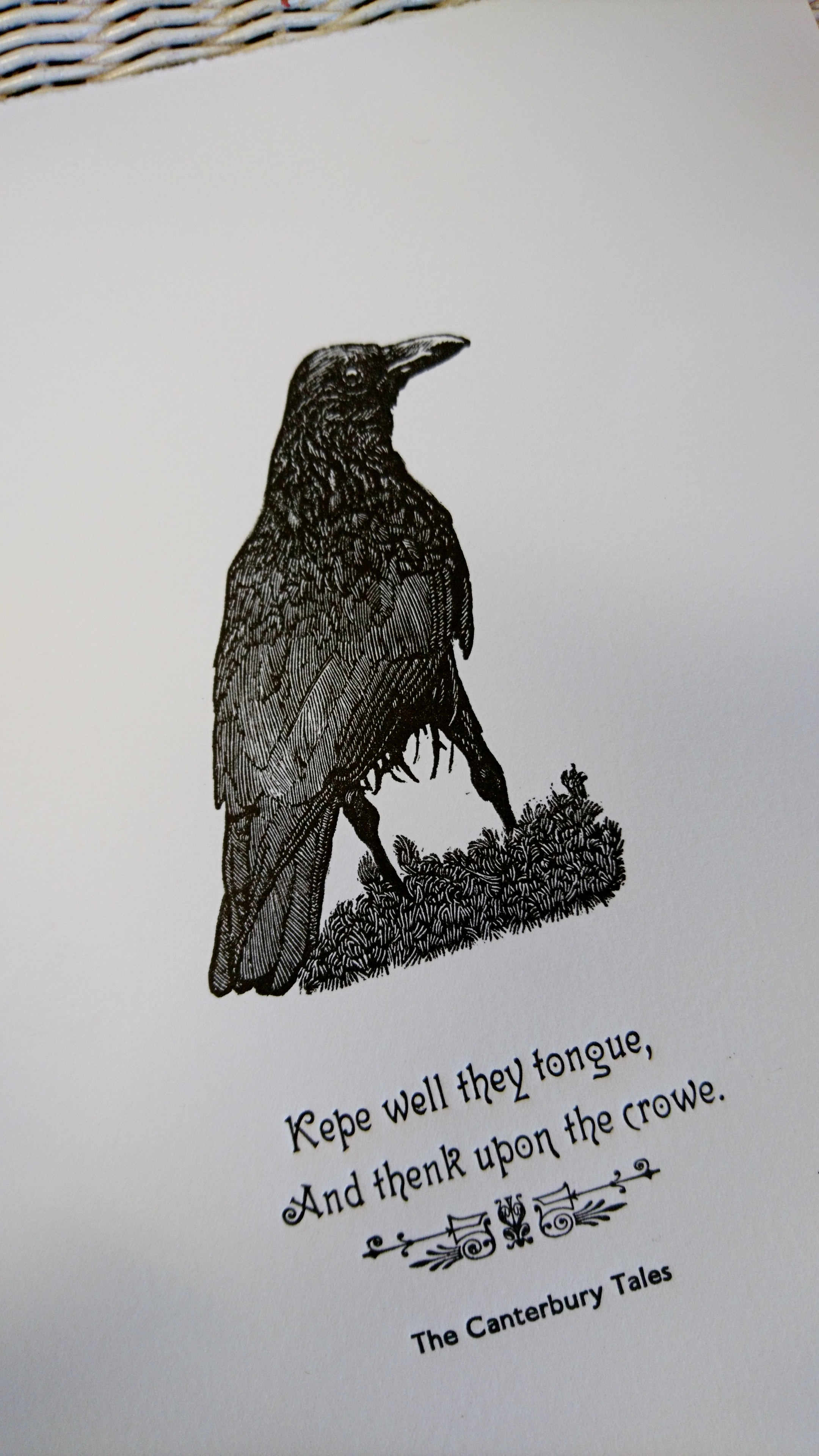 Chaucer's Crow: Detail